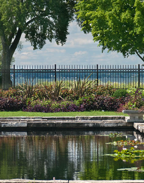Lake Monona, View from Olbrich Gardens Formal Pool